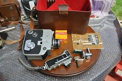 Vintage MAX-8E Auto Zoom 8mm Cine Camera and Case Made in Japan