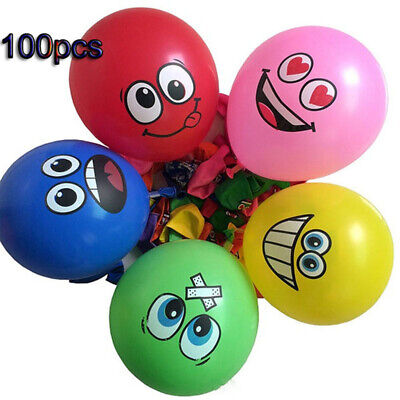 Happy Wedding Big Eyes Smiley Birthday Party Decoration Latex Balloon