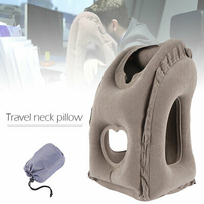 Luxury Portable Inflatable Travel Neck Pillow Airplane Cushion Office Neck Head