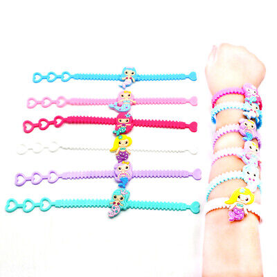 Mermaid Soft Silicone Bracelet Kids Mermaid Party Baby Shower Gifts Party Favors