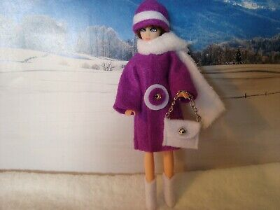 Topper Dawn doll OUTFIT  PURPLE  FELT JACKET  with PURSE ..very nice