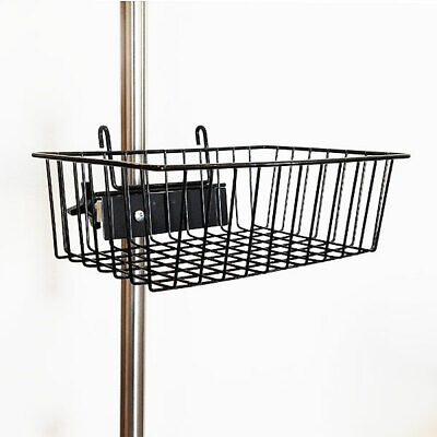 "MCM-217 Powder Coated Black Wire Basket 12""x8""x4"" Fits Universal Clamp New"