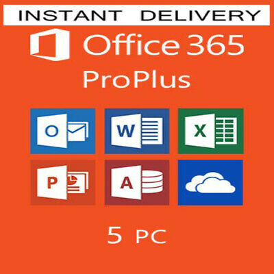 Office 365 Pro Instant Delivery Lifetime Account 5 Devices 5Tb Onedrive Win/Mac
