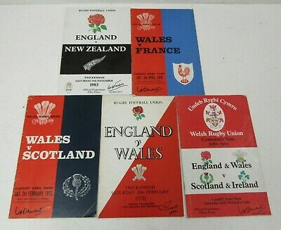 Rugby Union Programmes (Set of 5) | VINTAGE