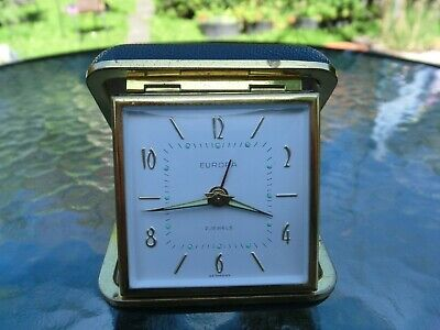 Vintage Europa Black Cased Travel Alarm Clock