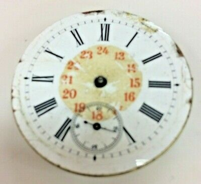 Antique Swiss Made Cylinder Pocket Watch Movement With Dial