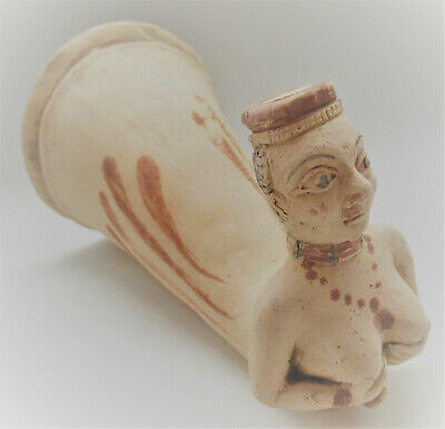 Ancient Persian Achaemenid Empire Terracotta Rhyton Vessel 500-300Bce