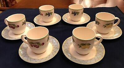 Mikasa Optima Y4001 Fruit Rapture Tea Coffee Cups & Saucers Set of 6