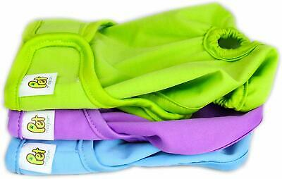 Pet Magasin Reusable Washable Dog Diapers (Pack Of 3), Highly Absorbent With Str