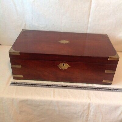 Fab Large Victorian Collectors/ Deeds/Gun Box? In The Campaign Style