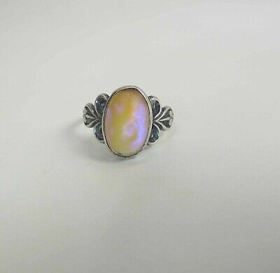 Antique Victorian Sterling Silver Saphiret Ring