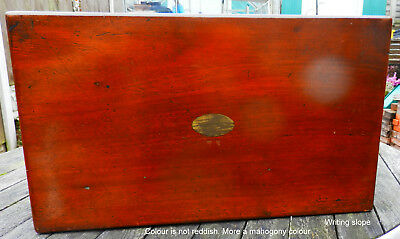 Antique wooden writing slope (No Key)