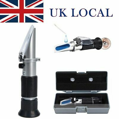 Universal Glycol Refractometer Car Antifreeze Battery Tester Engine Coolant UK