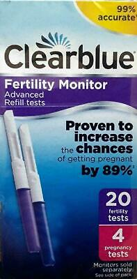 Clearblue Fertility Monitor Advanced Refills 4 Pregnancy And 20 Fertility Tests