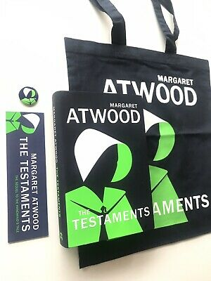 The Testaments - Margaret Atwood SIGNED 1st/1st HB + Prom Bag,Bookmark,Pin Badge