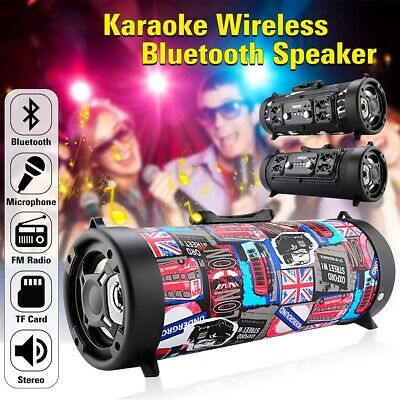 Portable Wireless Bluetooth Speaker Boombox Bass Stereo SD FM Radio AUX HiFi MP3