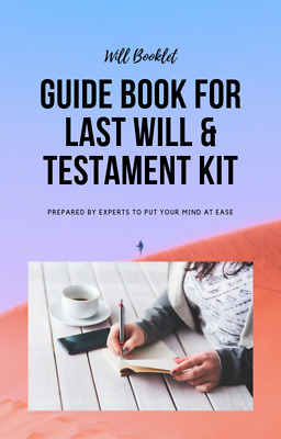 DIY LAST WILL AND TESTAMENT KIT, BRAND NEW Edition, Made for 1 or 2 PEOPLE
