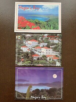 St. Thomas Virgin Islands Lot Of 3 Postcards Charlotte Amalie And Magen's Bay