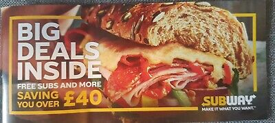 Subway Voucher Coupon Money Off Booklet (Save over £40)