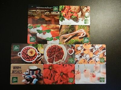 Lot Of Ten (10) All Different Collectible Only *The Fresh Market* Gift Cards