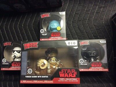 Funko DORBZ STAR WARS Excl. SOLD OUT TUSKEN RAIDER Holo Vader trooper  Lot 4 Pop