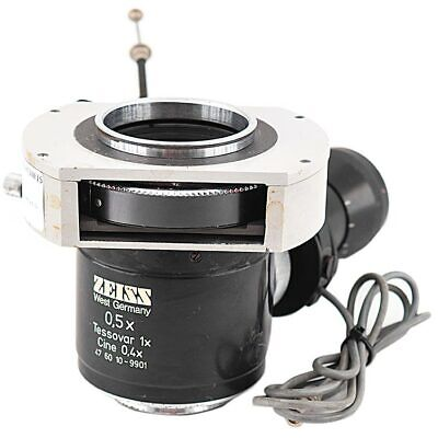 Zeiss 47 60 10 - 9901 Microscope Camera 0.5x Tessovar 1x Cine 0.4x Tube Adapter