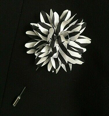 """Pheasant Pigeon Feathers /""""Jamie/"""" Wedding Boutonniere Brown Grey Red Lapel Pin"""