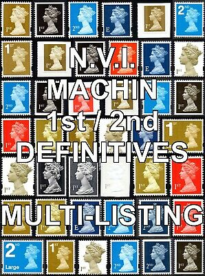 GB N.V.I. Machin 1st / 2nd Class (Multiple Listing) SG1445 - 2653 Unmounted Mint