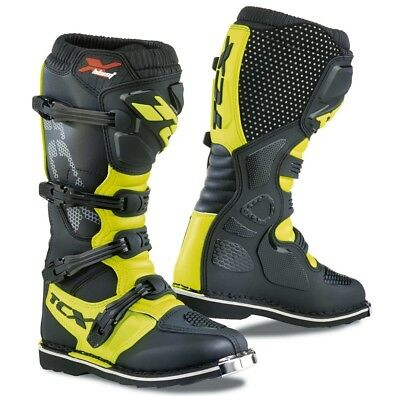 Stivali Boots Moto Mx Cross Enduro Tcx X-Blast Black Yellow Fluo Nero Giallo 47