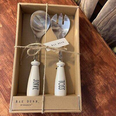 Authentic Rae Dunn Toss & Serve Utensils Gifts Set NWT