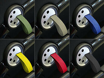Rennline RS Style Door Pulls MINI One Cooper S R55 R56 R57-R61 - BLACK / YELLOW