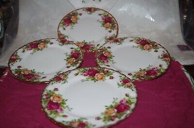 "Royal Albert/England "" Old Country Roses"" Set Of 4 Bread/Dessert Plates (#3)"
