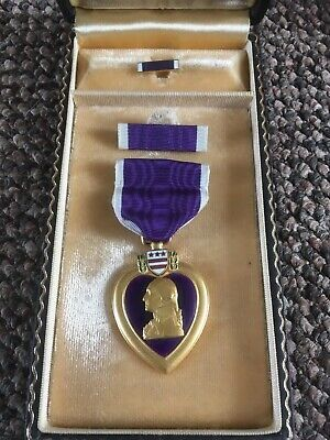 PURPLE  Heart MEDAL BOXED
