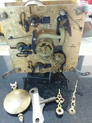 Here I have for sale a good clock movements complete with key pendulum and hands
