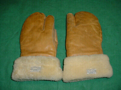 Superb Us Ww2 Army Air Forces Gunners Shearling Mittens Gloves A-9A Size Large
