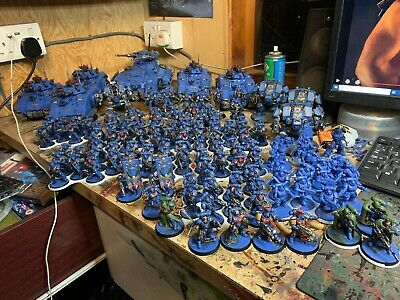 Warhammer 40K Space Marine Army Ultra marines  Primaris forge world