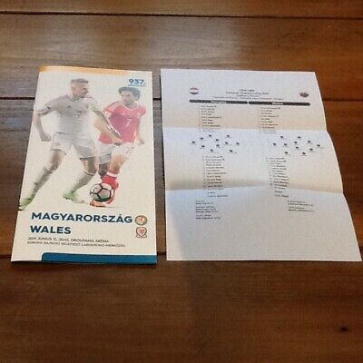 Hungary v Wales EURO's Qualifier Programme 11/06/19