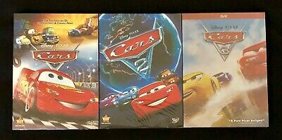 Cars 1, 2, & 3 Trilogy 3-Disney DVD Combo (Brand New / Free Shipping)