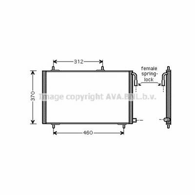 Capacitor for Air Conditioning Peugeot: 6455CH, 6455CJ, 96518670 PE5257Ava