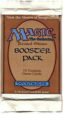 (1) One Revised Edition Factory Sealed Booster Pack MTG Vintage (RG) 4RCards