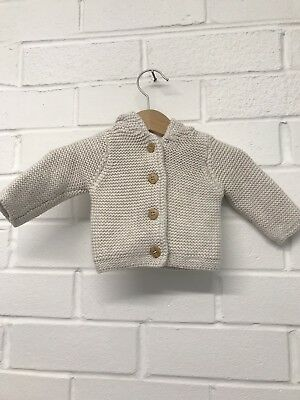 W5. Mothercare Knitted cardigan With Hood New Baby Girls Boys