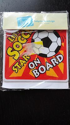 **New**Little Soccer Star On Board Car Baby On Board Sign**