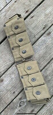 Original WWI U.S. Army M1903 M1917 M1 10-Pocket Ammunition Belt for Garand Rifle