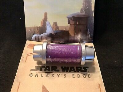 Disney Star Wars Galaxy's Edge Kyber Crystal PURPLE Lightsaber Holocron