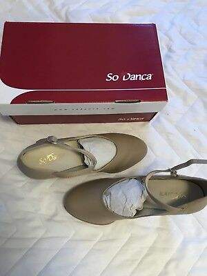 So Danca Tan Character Dance Shoes CH53  (3 Inch Heel) Size 4 1/2