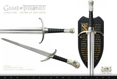 Official HBO Jon Snow Sword - Longclaw Authentic Prop Replica by Valyrian Steel