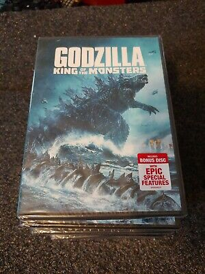 GODZILLA KING OF THE MONSTERS (DVD, 2019) 2-Disc Set Brand New Sealed
