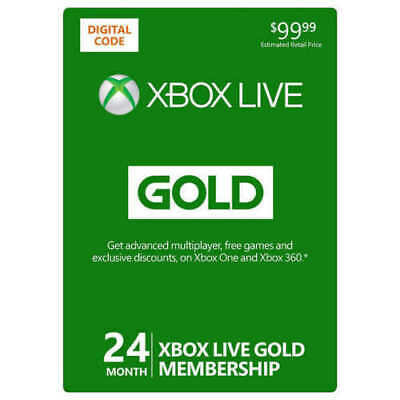 Xbox Live Gold 24 MONTH Membership Subscription US DIGITAL CODE EMAIL DELIVERY!