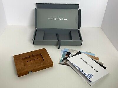 American Express Platinum Wood Phone Stand & Amex Credit Card Welcome Package