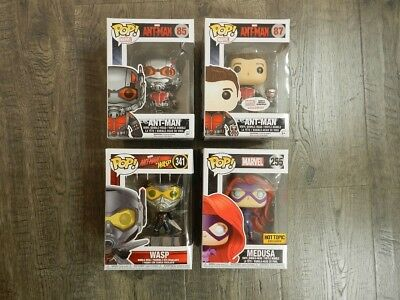 Funko POP LOT Marvel Ant-Man Ant Man Wasp Medusa Collector Corps Hot Topic NEW